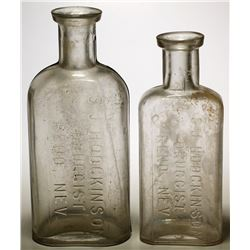 Two S.J. Hodgkinson  Druggist Bottles (Reno, Nevada)