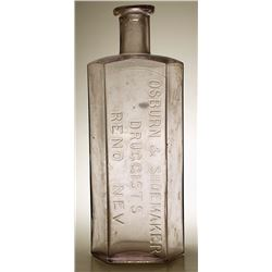 16 Oz Osburn & Shoemaker Drug Bottle (Reno, Nevada)