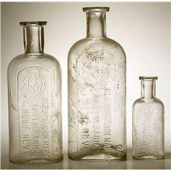 Three Osburn & Shoemaker Drug Bottles (Reno, Nevada)