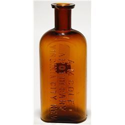 A. M. Cole Apothecary Amber Bottle (Virginia City, Nevada)