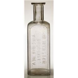 M. Webster Druggist Bottle (Virginia City, Nevada)