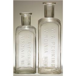 Two W. A. Perkins Drug Store Bottles (Virginia City, Nevada)