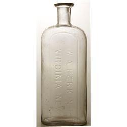 W. A. Perkins Drug Store Bottle, c.1878 (Virginia City, Nevada)