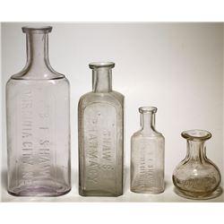 Four B. F. Shaw Bottles (Virginia City, Nevada)