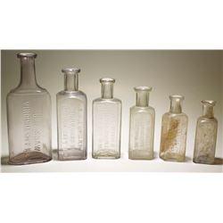 Virginia City, Nevada Druggist Bottle Collection (5 Different Druggists)