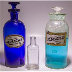 Three Drug Store Bottles