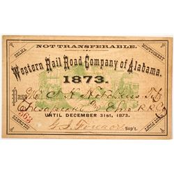 Western Rail Road Co. of Alabama Pass, 1873
