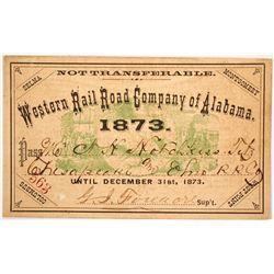 Western Rail Road Co. of Alabama Pass, 1873