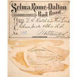 Selma, Rome & Dalton Railroad Pass, 1876