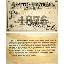 South & North Alabama Railroad Pass, 1876