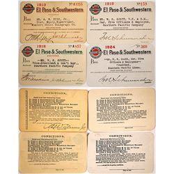 El Paso & Southwestern Railroad Co. Annual Pass Collection (Arizona Copper Mining)
