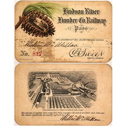 Hudson River Lumber Co. Railway Pass, 1901, Pictorial