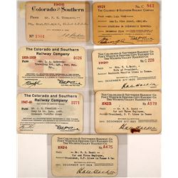 Colorado & Southern Railway Co. Pass Collection