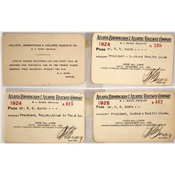 Atlanta, Birmingham & Atlantic Railway Co. Passes