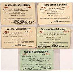 Central of Georgia Railway Passes