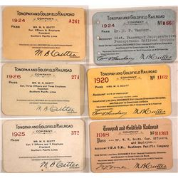 Tonopah & Goldfield Railroad Co. Pass Collection