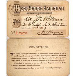 West Shore Railroad Pass, 1888