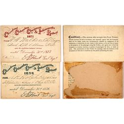 Two 1870s Cleveland, Columbus, Cincinnati & Indianapolis Railway Passes