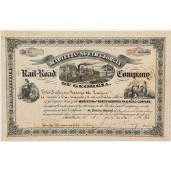 Marietta & North Georgia Rail-Road Company Stock Certificate