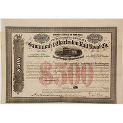 Savannah & Charleston Railroad Bond