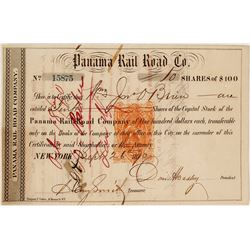 Panama Rail Road Co. Revenue-Imprinted Stock Certificate, 1870