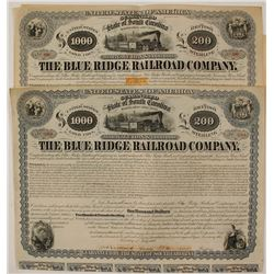 Two Blue Ridge Railroad Bonds