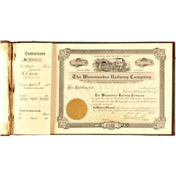 Waumandee Railway Co. Book of Stock Certs