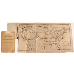 Northern Pacific Railroad Booklet w/ Map, 1869
