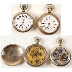 Two Antique Men's Railroad Pocket Watches