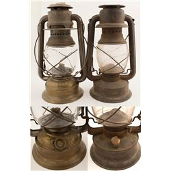 Railroad or Outside Wick Lamps (2)