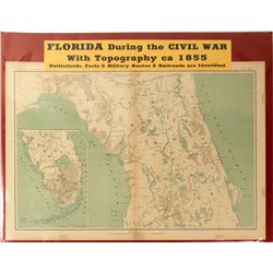 Map of Florida During the Civil War