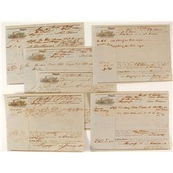 Six Civil War Steamboat Bills of Lading