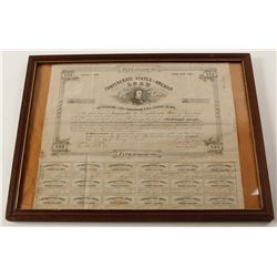1863 Confederate Loan - Framed