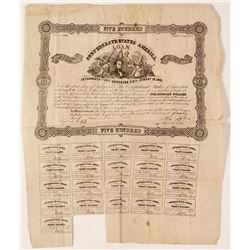 Confederate States of America Bond, 1862, Richmond