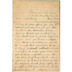 Civil War Letter Written from the Camp at White House
