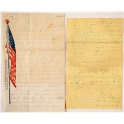 Illustrated Civil War Letter Sheet and a Civil War Era Letter