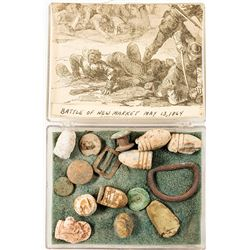Collection of Civil War Battlefield Bullets of New Market, Virginia 1864