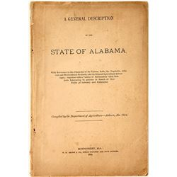 "A General Description of the State of Alabama"" 1884"