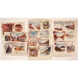 Rare Set of Alaska American-Souvenir-Card Postcards