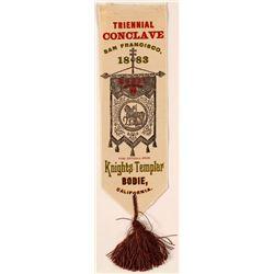 1883 Bodie Knights Templar Silk Ribbon