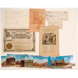 Bodie Park Dedication Invitation, Mining Letter, Postcards, Stock, & More!