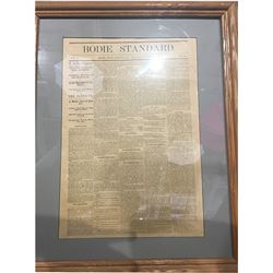 Framed Bodie Standard Newspaper