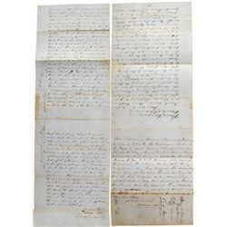 1857 Calaveras County Land Deed