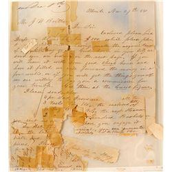 Los Angeles 1854 Letter Sheet