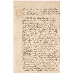 1864 Legal Complaint for Todd Valley, Placer County Married Couple