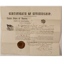1868 Citizenship Papers from John Parsons