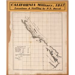 Map of Pre - Gold Rush California Sutters Fort