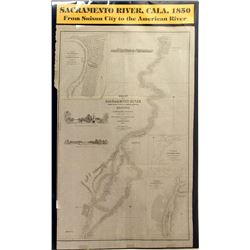 c.1850 Chart of the Sacramento River