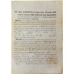 Rare California Territorial Document