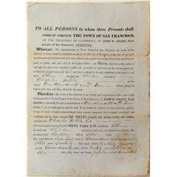 Rare California Territorial Document